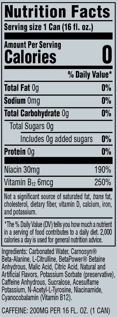 C4 Energy Carbonated Facts CC Flat 1 | Supplement Store BodyTech