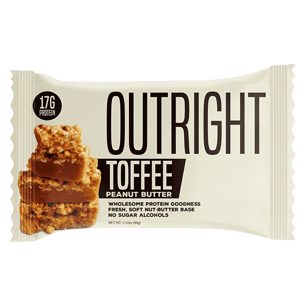 Outright Bar 60g Toffee Single 1   Supplement Store BodyTech
